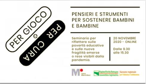"""Carte di Labelluli al seminario """"Per gioco e per cura"""" del Centro Alberto Manzi"""